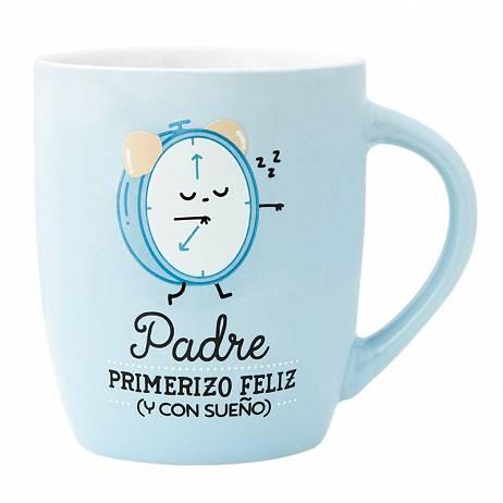 TAZA, PADRE PRIMERIZO FELIZ Y CON SUEÑO.