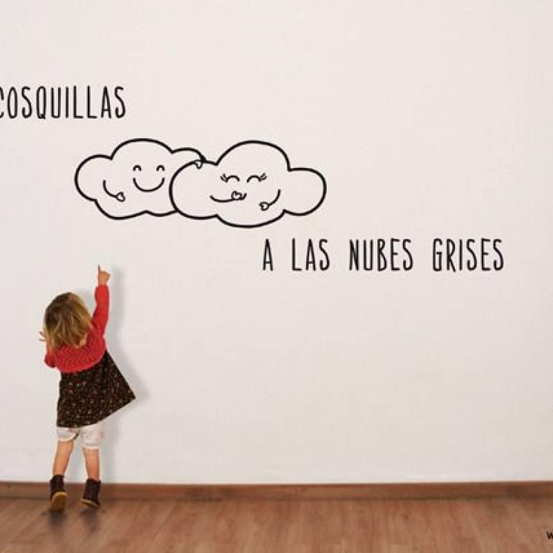 VINILO HAZLE COSQUILLAS A LAS NUBES GRISES