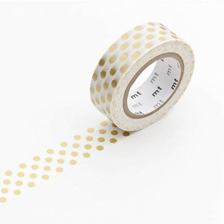 MT MASKING TAPE DOT GOLD.