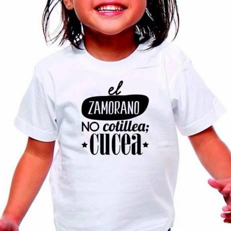 CAMISETA NIÑOS ZAMORA, EL ZAMORANOS NO COTILLEA, CUCEA.
