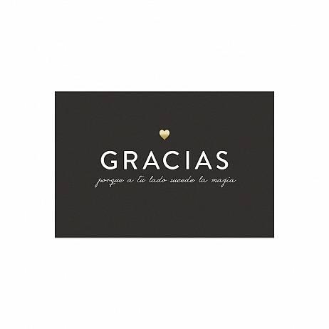 POSTAL GRACIAS PORQUE A TU LADO SUCEDE LA MAGIA. CHARUCA