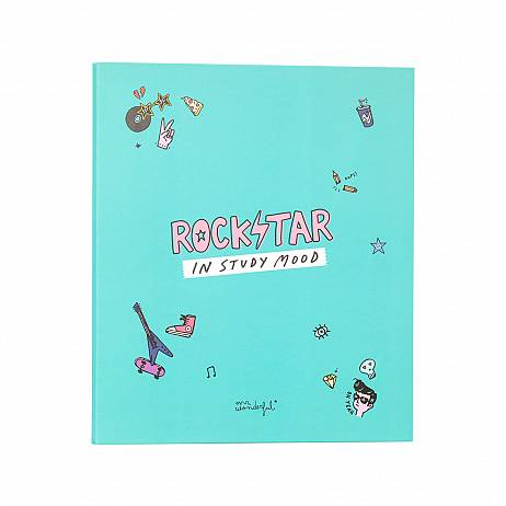 CARPETA ARCHIVADORA ROCKSTAR IN STUDY MOOD. MR.WONDERFUL,