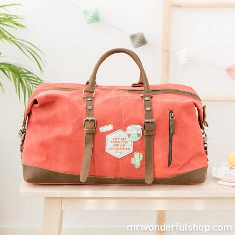 BOLSA DE FIN DE SEMANA - LET ME TAKE YOU ON AN ADVENTURE, MR.WONDERFUL