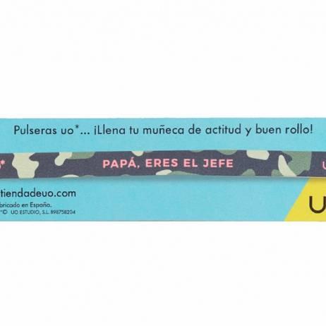 PULSERA PAPÁ ERES EL JEFE.