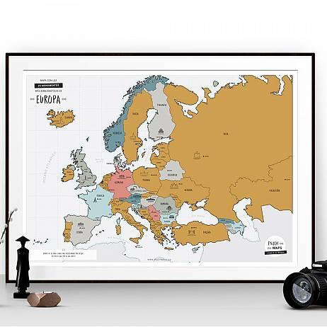 MAPA RASCABLE DE EUROPA