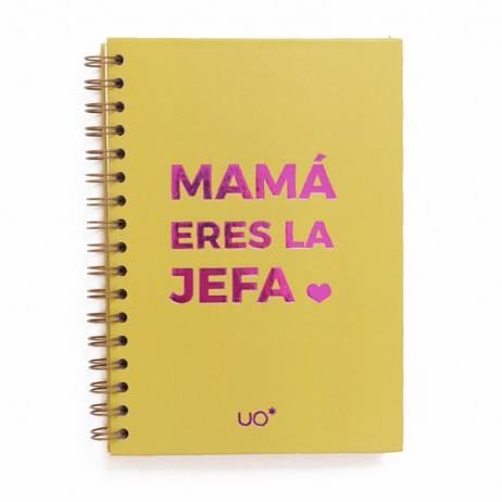 LIBRETA MAMÁ ERES LA JEFA.