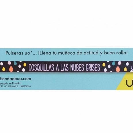 PULSERA COSQUILLAS A LAS NUBES GRISES.