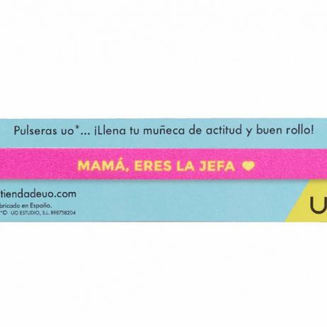 PULSERA MAMÁ ERES LA JEFA.