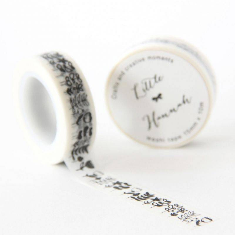 WASHI TAPE «FLORES DE INVIERNO» LITTLE HANNAH.