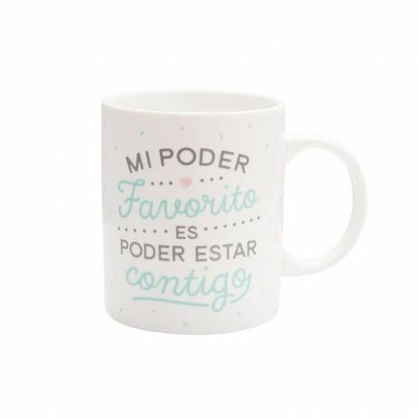 TAZA MR.WONDERFUL MI PODER FAVORITO ES PODER ESTAR CONTIGO.