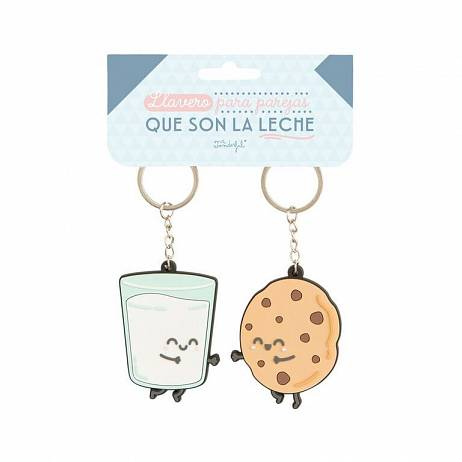 SET 2 LLAVEROS MR.WONDERFUL PARA PAREJAS QUE SON LA LECHE.