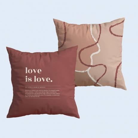 FUNDA COJÍN LOVE IS LOVE.