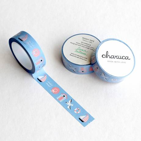 WASHI TAPE SWEET NAUTIC, CHARUCA.