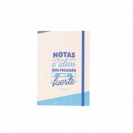 LIBRETA CON NOTAS ADHESIVAS - NOTAS E IDEAS QUE PEGARÁN MUY FUERTE