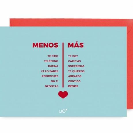 POSTAL MENOS ES MÁS, LOVE.